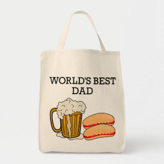 World's Best Dad Grocery Tote Bag