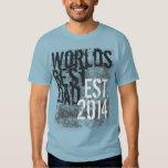 World's Best Dad Grunge 2014 Father's Day Tee Shirt