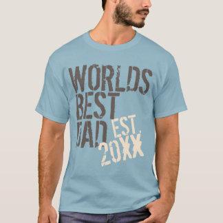 World's Best Dad Grunge Custom Year Father's Day T-Shirt
