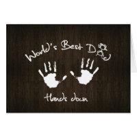 World's Best Dad, Hands down Cards