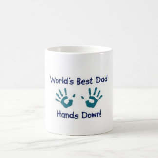 World's Best Dad Hands Down! Father's Day Mug
