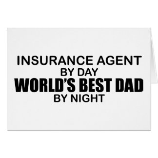 World's Best Dad - Insurance Card