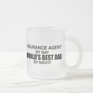 World's Best Dad - Insurance Frosted Glass Coffee Mug