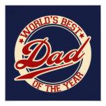 World's Best Dad 5.25x5.25 Square Paper Invitation Card