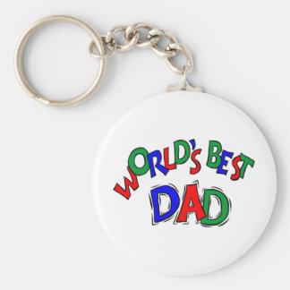 Worlds Best Dad Keychain