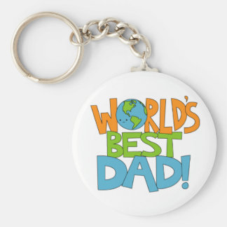 worlds best dad keyring keychain