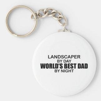 World's Best Dad - Landscaper Keychain