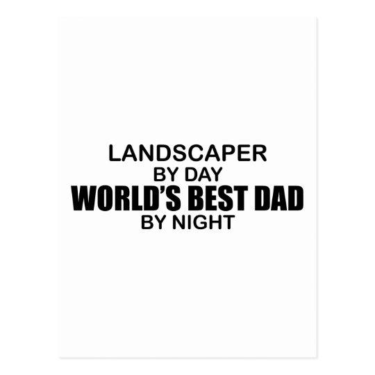 World's Best Dad - Landscaper Postcard