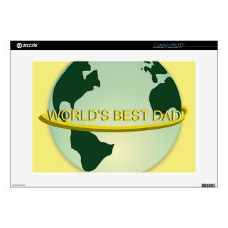 """""""World's Best Dad"""" Laptop Decals"""