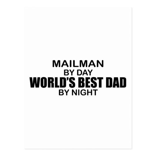 World's Best Dad - Mailman Postcard