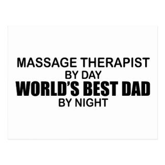 World's Best Dad - Massage Therapist Postcard