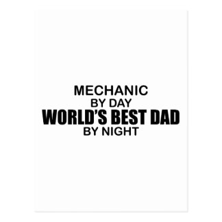 World's Best Dad - Mechanic Postcard