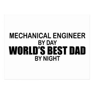 World's Best Dad - Mechanical Engineer Postcard
