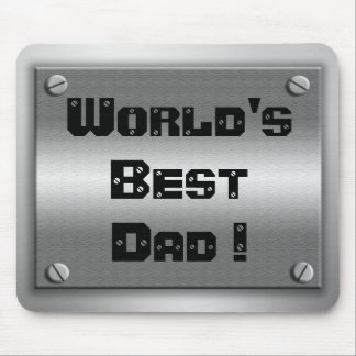 World's Best Dad Metal Mousepad