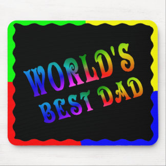 WORLD'S BEST DAD -MOUSEPAD MOUSE PAD