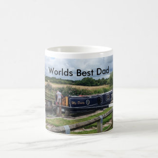 Worlds Best Dad Mug with Canal Narrow boat