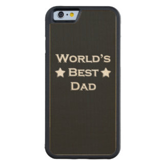 World's Best Dad on Black Carved Maple iPhone 6 Bumper Case