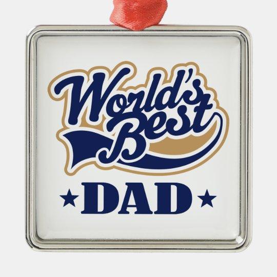 Worlds Best Dad Ornament Keepsake Gift