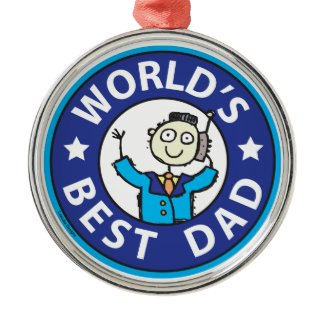 Worlds Best Dad Ornaments