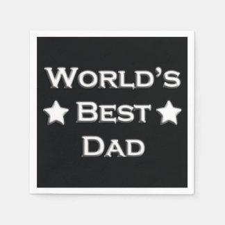 World's Best Dad Standard Cocktail Napkin