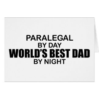 World's Best Dad - Paralegal Card
