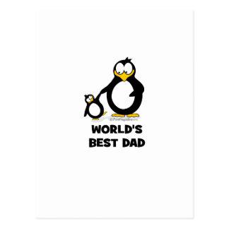 World's Best Dad Penguin Postcard