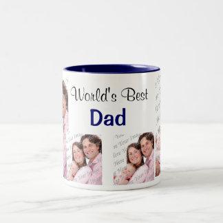 World's Best Dad Photo Mug Blue
