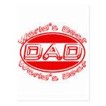 World's best Dad Post Card