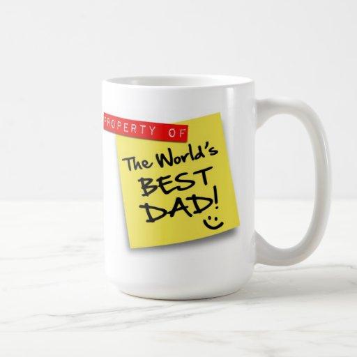 World's Best Dad Post Coffee Mug