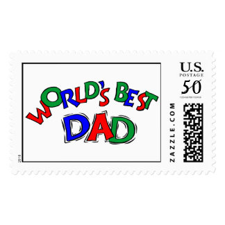 World's Best Dad Postage Stamps (LARGE)
