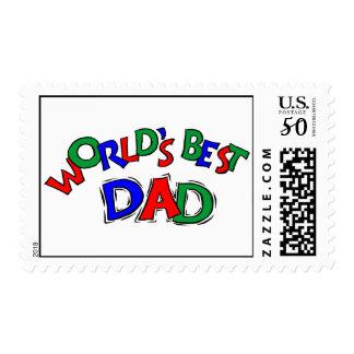 World's Best Dad Postage Stamps (MEDIUM)