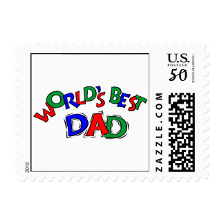 World's Best Dad Postage Stamps (SMALL)