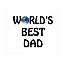 world's best Dad Postcard