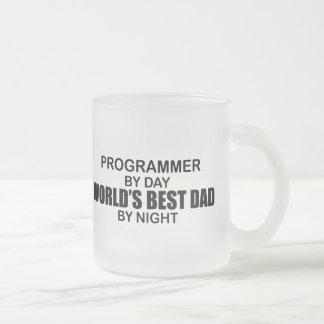 World's Best Dad - Programmer 10 Oz Frosted Glass Coffee Mug