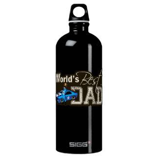 World's Best Dad; Racing Aluminum Water Bottle