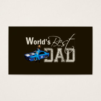 World's Best Dad; Racing Business Card