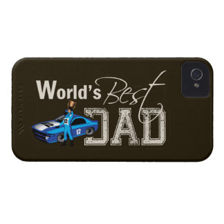 World's Best Dad; Racing Case-Mate iPhone 4 Case