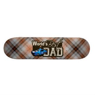 World's Best Dad; Racing Custom Skateboard