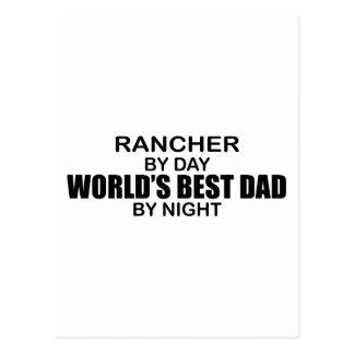 World's Best Dad - Rancher Postcard