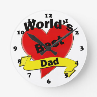World's Best Dad Round Clock