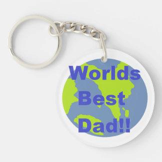 Worlds Best Dad Single-Sided Round Acrylic Keychain