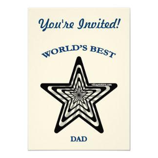 World's Best Dad Star Card