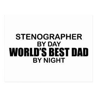 World's Best Dad - Stenographer Postcard