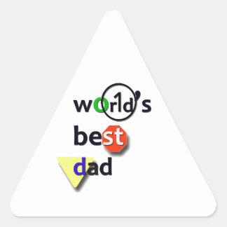 WORLDS BEST DAD TRIANGLE STICKER