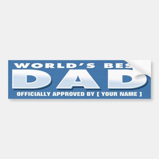 World's Best Dad Sticker Bumper Stickers