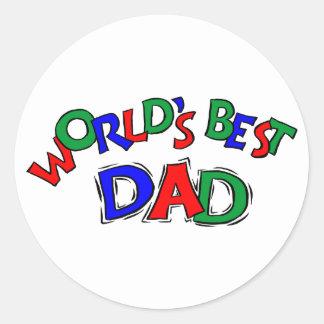 World's Best Dad Stickers