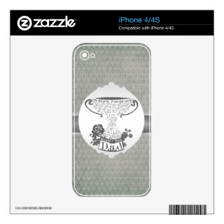World's best dad trophy text design skin for the iPhone 4S