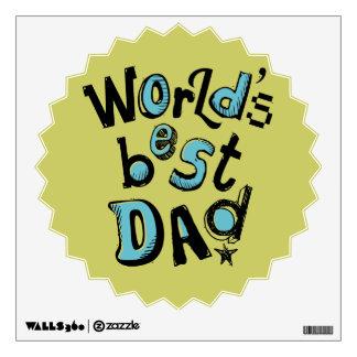 World's Best Dad Wall Sticker