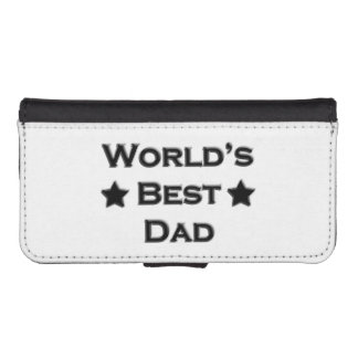 World's Best Dad Wallet Phone Case For iPhone SE/5/5s