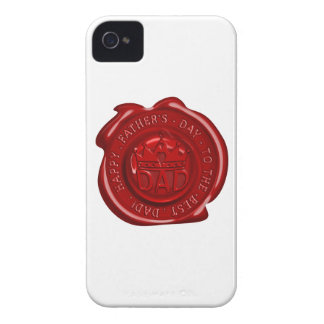 World's best dad wax seal Case-Mate iPhone 4 cases